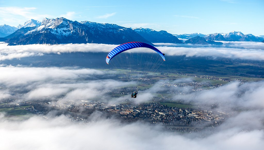 Over the clouds, Salzburg