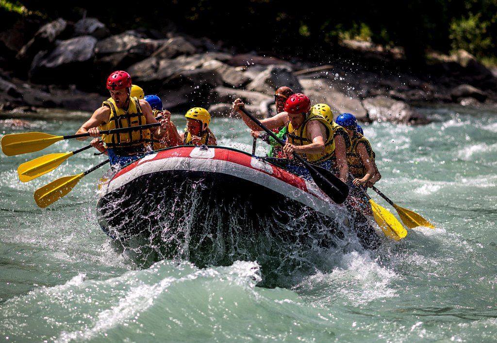 rafting on the river Isel